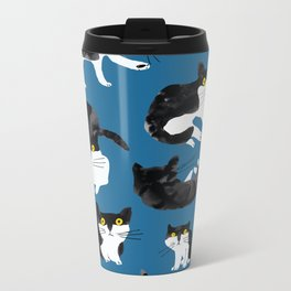 cat study Metal Travel Mug