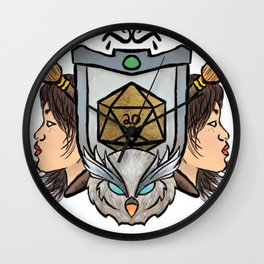 Owl's crest Wall Clock