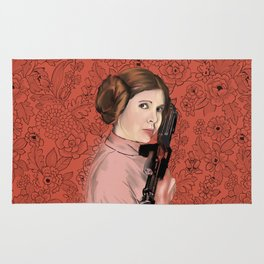 Princess Leia from StarWars Rug