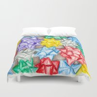 bows Duvet Covers featuring Bows by Lady Tanya bleudragon