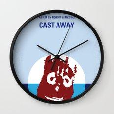 No718 My Cast-Away minimal movie poster Wall Clock