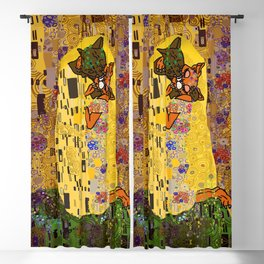 Kiss Klimt Cats Blackout Curtain