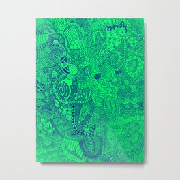 The Underbrush Minty Metal Print