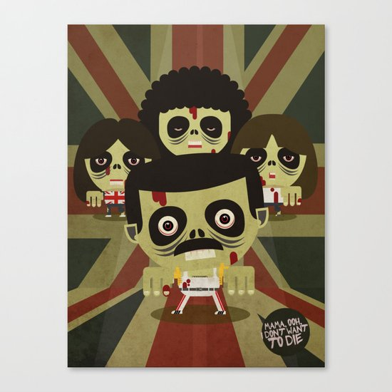 queen zombie 2 Canvas Print