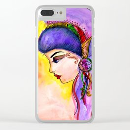 Gypsy Girl Clear iPhone Case