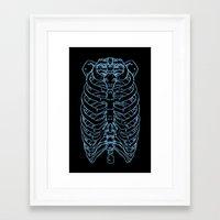 skeleton Framed Art Prints featuring Skeleton by Robbie Drew Dixon