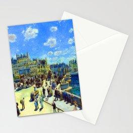 Renoir Pont Neuf Paris Stationery Cards