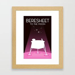 Beresheet, moon lander Framed Art Print