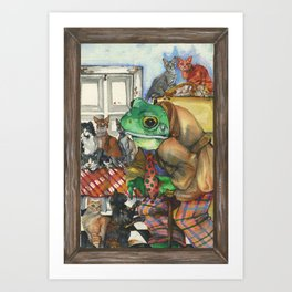 Hermit, a Frog Art Print