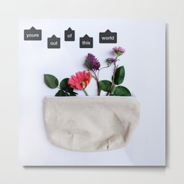 flowers in a bag Metal Print