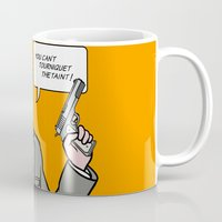lichtenstein Mugs featuring Ray Lichtenstein by turantuluy