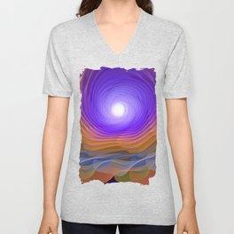 Whispering water and a blue moon Unisex V-Neck