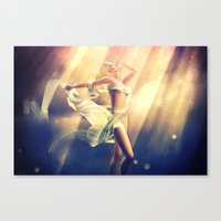 celestial Canvas Prints featuring Celestial by DeeDee