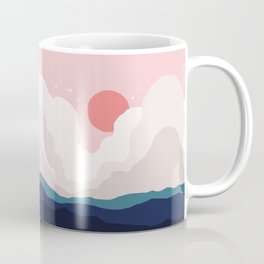 Abstraction_SUN_CLOUD_MOUNTAINS_ART_Minimalism_001A Coffee Mug