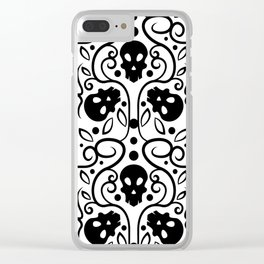 Cool Skulls Clear iPhone Case