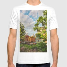 I'm Going Home MEDIUM White Mens Fitted Tee