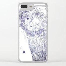 Lil peep w/peeps Clear iPhone Case