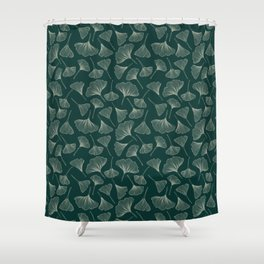 Ginkgo Leaves green Shower Curtain
