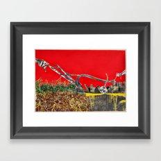 Plow the City Framed Art Print