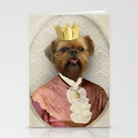 brussels Stationery Cards featuring Queen of Brussels by The Lonely Pixel