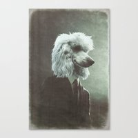 poodle Canvas Prints featuring Poodle by womoomow