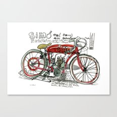 SIMÓ, 1924, Motorcycle (Catalonia) Canvas Print