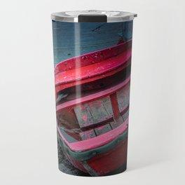 Barca al porticciolo di Piombino Travel Mug