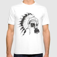 GasMax Chieftain X-LARGE White Mens Fitted Tee