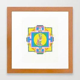 meditation aid Framed Art Print