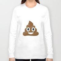 emoji Long Sleeve T-shirts featuring Emoji Poo by Emojis on Mugs, Tshirts, Phone Cases & M