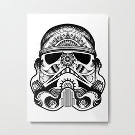Mandala Stormtrooper - Black. A loyal solider.  Metal Print