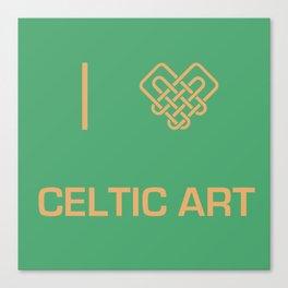 I heart Celtic Art Canvas Print