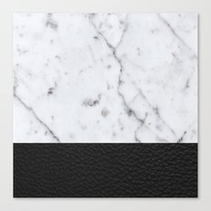 Marble and Leather Canvas Print