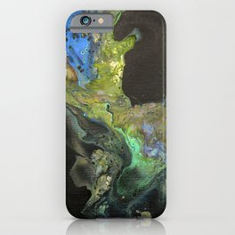 The Chenoweth - Original Abstract Acrylic Fluid Pour Painting Art  iPhone Case
