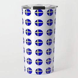 flag of sweden 3 Swedish,Sverige,Swede,Stockholm,Scandinavia,viking,bergman, strindberg Travel Mug