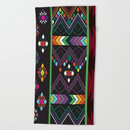 Aztec Central America Inspired Modern Geometric Design Beach Towel
