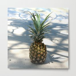 Pineapple in shadows Metal Print