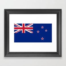 The Flag of New Zealand Framed Art Print