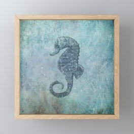 sea & horse Framed Mini Art Print