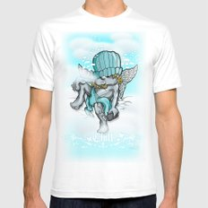 Chill White MEDIUM Mens Fitted Tee