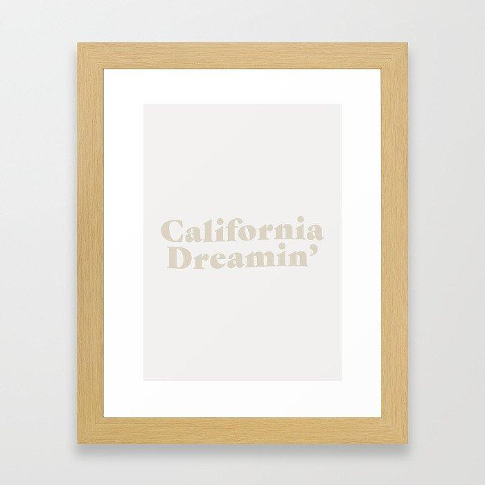 California Dreaming - Light Framed Art Print