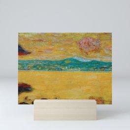 Gulf of St. Tropez, French Riveria coastal Côte d'Azur, France landscape painting by Pierre Bonnard Mini Art Print
