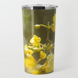 Popcorn Flower Bokeh Delight Travel Mug