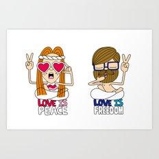 LOVEISPEACE&FREEDOM Art Print