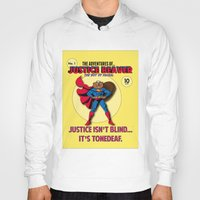 beaver Hoodies featuring Justice Beaver by Alex Dutton