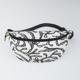 Abstrct vines line art Fanny Pack