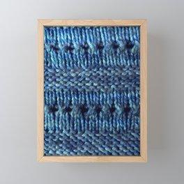 Blue Shawl Framed Mini Art Print