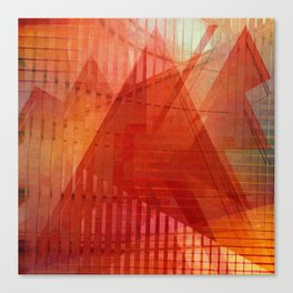 Orange abstract  Canvas Print