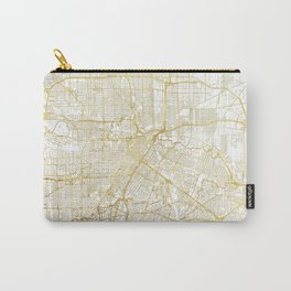 Houston Map Gold Carry-All Pouch