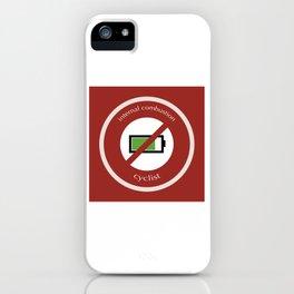 No E-Bike No Battery iPhone Case